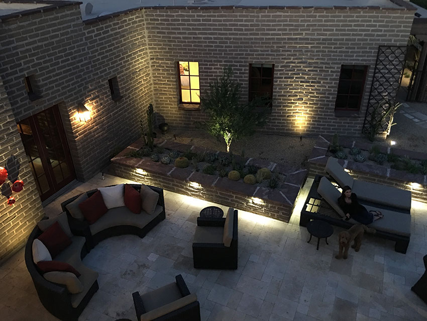 Landscape Lighting - Lanscape Lighting Paradise Valley, AZ Arte Verde Landscape Design