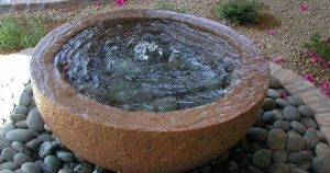 Water Feature With Waterfall