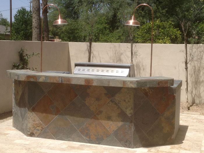 Outdoor kitchens phoenix bbq islands scottsdale arte verde - Bell gardens high school school loop ...